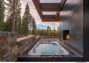 Hot Tub With Fireplace at Martis Camp.